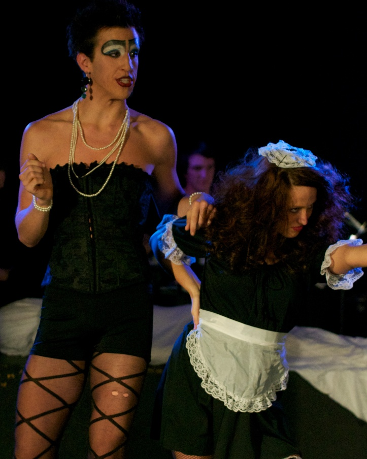 "Justin Talkington and Paige Dobkins in ""Rocky Horror"" in Stucab 2011 / Photo by Kirk Sheppard"