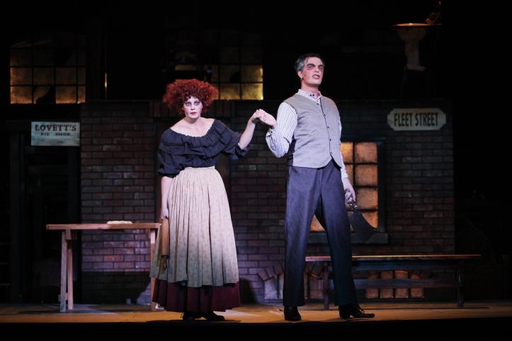 Helen Anneliesa Raymond-Goers (Mrs. Lovett) and Justin Glaser (Sweeney Todd) / Photo by Mikki Schaffner